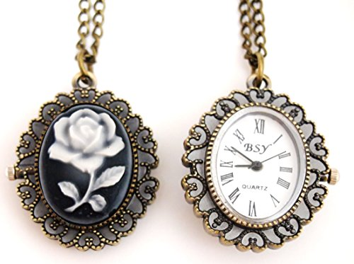 Used in the front and back, and even watches features a cameo antique pendant necklace available (rose)