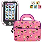 Evecase LeapFrog LeapPad Ultra/ Ultra XDI Kids' Learning Tablet Sleeve Case, Cute Princess Themed Neoprene Travel Carrying Slim Sleeve Case Bag w/ Dual Handle and Accessory Pocket - Pink w/ Purple Trim