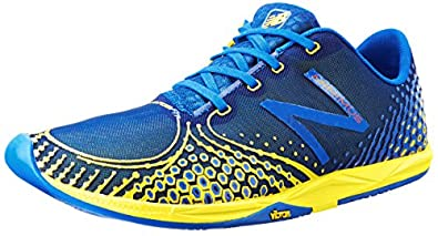 New Balance Men's MR00 Minimus Road Running Shoe,Blue/Yellow,7 2E US