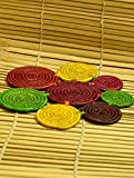 The India Craft House Sarpat Grass Bhadohi Basket Craft Table Mats / Trivets - 10