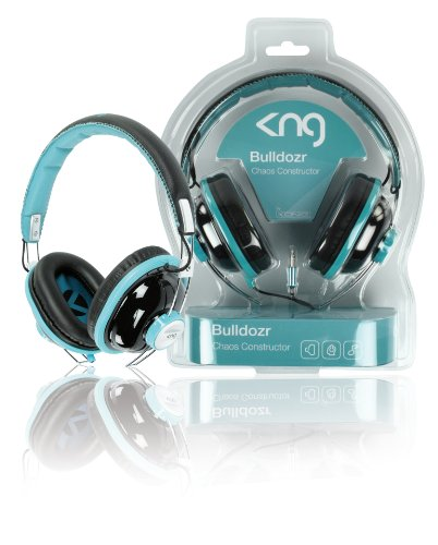 KNG Bulldozr Chaos Constructor Designer Headphones - Turquoise
