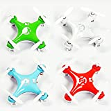 """KiiToys® Quadcopter Drone RC Helicopter Quad Copter Toy - Micro Mini Nano Size - 3D Flip Air Light Show - 6 Axis Gyro - 4 Channels Radio Control - 2.4 ghz 100 ft range - """"Smallest QuadCopter in the world"""" with KiiToys Warranty + Tech Support (Color: Orange, Green, Blue, White,Pink)"""