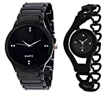 #9: Krupa Enterprise Analogue Black Dial Mens and Womens Watches-55563