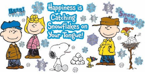 Eureka Peanuts Happiness Is A Snowflake Bulletin Board Set, 39 Reusable Punch Out Pieces front-981423
