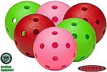 Tubo de grasa Floorball/juego de 6 bolas Unihockey - COLOR MIX