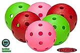 FAT Pipe - Set di 6 palle Floorball/Unihockey, multicolore