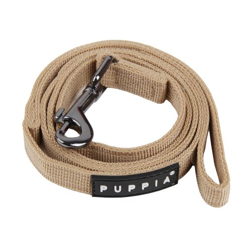 Authentic Puppia Two Tone Lead, Beige, Medium