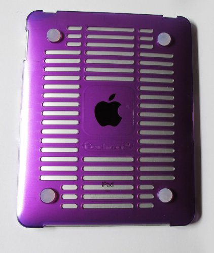 Purple mCover® Hard Shell Case (with Hard Screen Protector) for Apple iPad tablet (WiFi & 3G models, compatible with Apple original Dock and Keyboard dock for iPad)