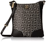 Tommy Hilfiger Elise Jacquard Crossbody, Black/White