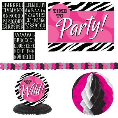 Zebra Party Decorating Kit
