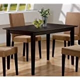 Coaster Hyde Rectangular Casual Dining Leg Table in Cappuccino