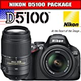 Nikon D5100 Digital SLR Camera & 18-55mm G VR DX AF-S & 55-300mm VR Zoom Lens