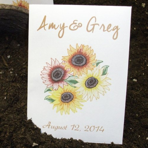 Personalized Seed Packet Favors - Autumn Beauty Sunflower