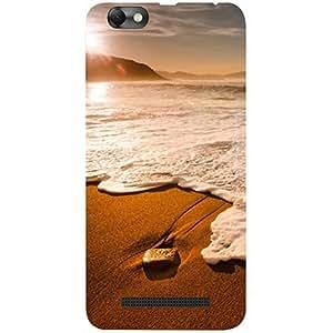 Casotec Sun Set Beach Design 3D Printed Hard Back Case Cover for Lenovo Vibe C A2020