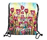 niceEshop(TM) Fashion 3D Printing Casual Nylon Drawstring Backpacks(Oil Painting)