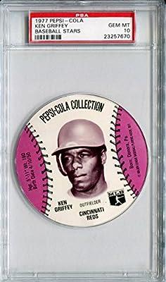 1977 MSA Pepsi Cola Glove Sports Discs KEN GRIFFEY SR Rare PSA Gem Mint 10 SP Cincinnati Reds Big Red Machine