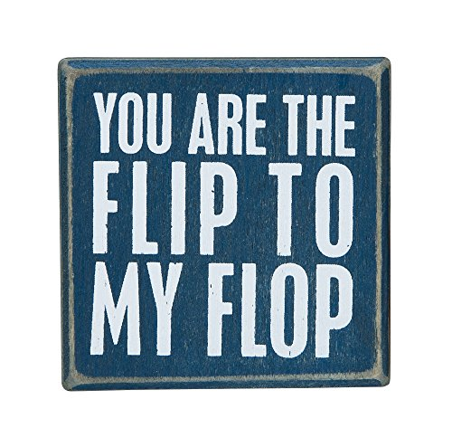 You-Are-The-Flip-To-My-Flop-Mini-Decorative-Beach-Decor-Box-Sign-3-in-x-3-in