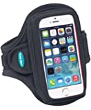 Armband for iPhone 5s and iPhone 5 with a slim case (Also fits slim cases for iPhone 5c, iPhone 4S and iPhone 4)