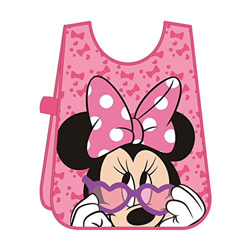 Minnie Mouse - Delantal manualidades, en PVC, 50 x 33 cm (Arditex WD8854)