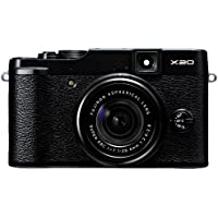 Fujifilm FinePix X20 Mirrorless Camera (Black) with SD Card