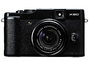 Fujifilm X20 Black 12 MP with All-Glass 4x Manual Optical Zoom Lens