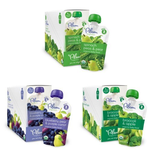 Plum Organics Baby Second Blends Variety Pack - 1
