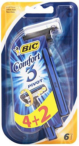 Bic - Comfort 3 Pivot, Rasoi 3 Lame Usa e Getta - Confezione da 6