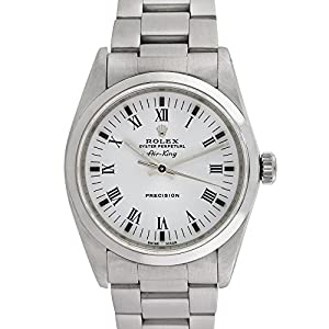 Rolex Airking automatic-self-wind white mens Watch 14000M (Certified Pre-owned)