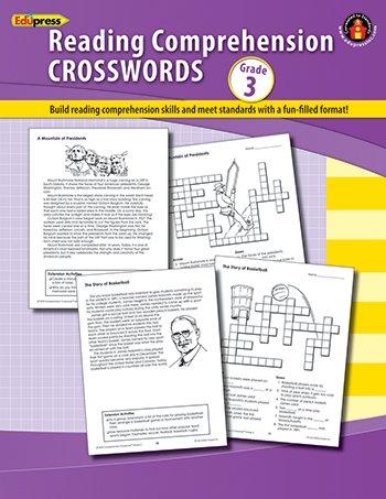Edupress Ep-187r Comprehension Crosswords Book Gr 3