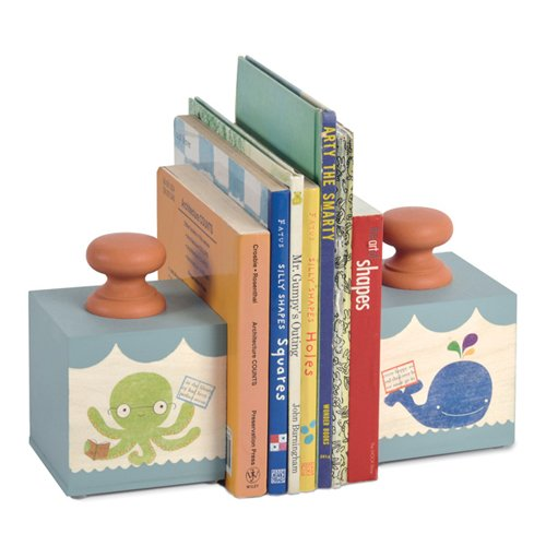 Tree by Kerri Lee Bookend Blocks, Ocean Fun