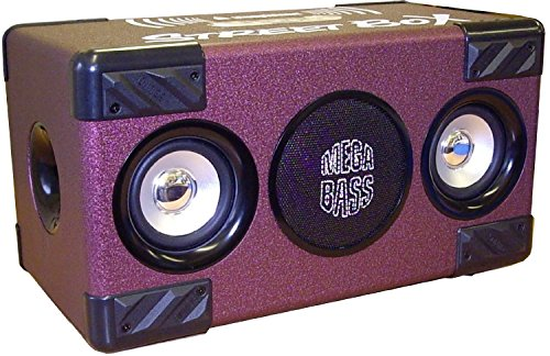 Steepletone Sm0025 London Street Box Bluetooth Speaker System Mp3 Boombox (Purple)