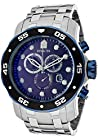 Invicta Mens Pro Diver Chronograph Stainless Steel Blue Dial