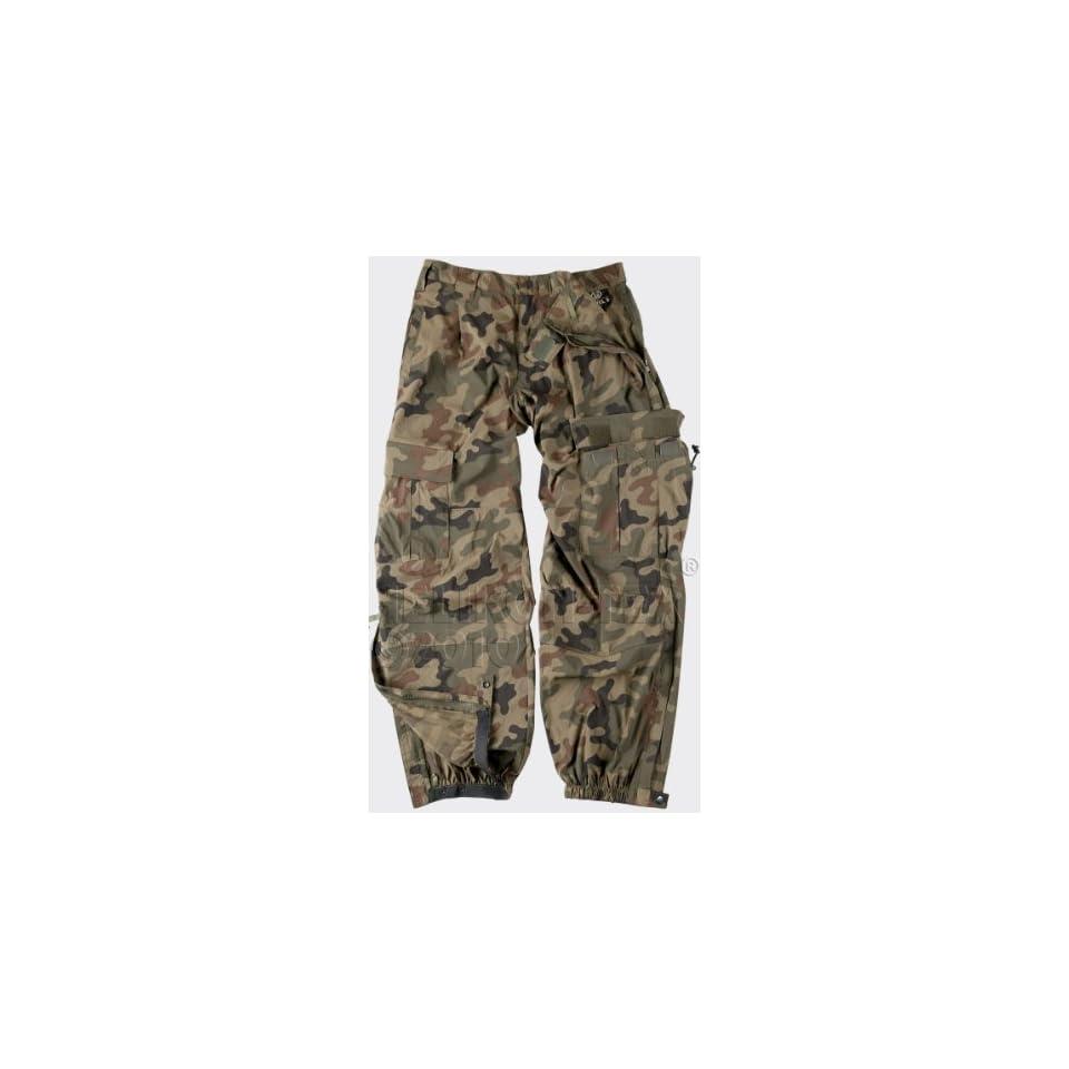 Helikon Soft Shell Trousers Mens Tactical Cargo Pants Polish Woodland Camo
