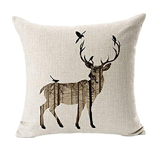 Bolayu-Home-Decor-Deer-Sofa-Bed-Pillow-Case-Cushion-Cover-Beige