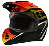 509 Evolution Helmet Black Fire ★ SGマーク規格 (サイズ XL, BlackFire) ★バイク ヘルメット★スノーモービル ヘルメット★スノーモービル ウエア★509ヘルメット★509ウエア★オフロード ヘルメット★モトクロス ヘルメット ★正規品★保証付