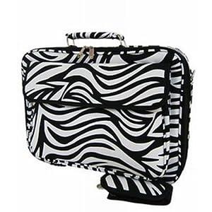 World Traveler 17-inch Zebra Print Laptop Bag
