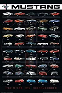 AQUARIUS Ford Mustang Poster Print, 24 by 36-Inch