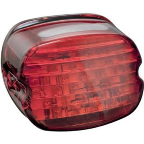 Kuryakyn 5436 Low Profile LED Taillight with Red Lens and License Plate Light