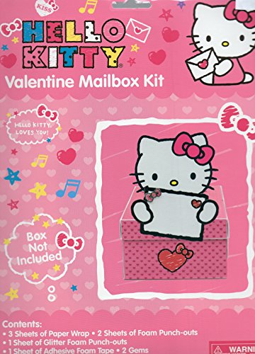 "Hello Kitty Valentine Mailbox Kit (Box Not Included) Designed to Decorate a Box 8.25"" x 11.75"" x 5 "" - 1"