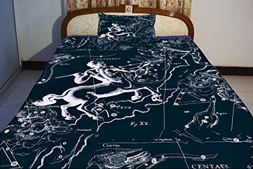 Anlye Centaurus Constellation Bedding Set 2 Sides Printing Design Centaurus Animal Features Duvet Covers Sets With 2 Extra Large Pillow Cases Queen