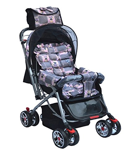 Olly Polly UK British Teddy Print High Quality Pram Stroller – Pink