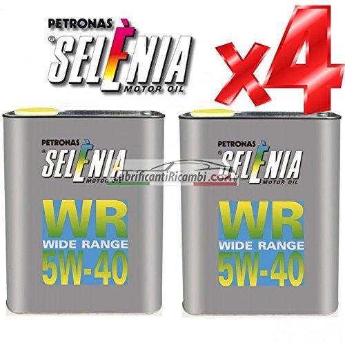 Olio-Motore-Selenia-WR-5W40-DIESEL-Originale-FIAT-ALFA-ROMEO-LANCIA-4-Litri-Shell-Advance-Helmet-Visor-Spray-Pulitore-casco-Finestrini-auto-piastrelle-specchi-e-vetri-casa