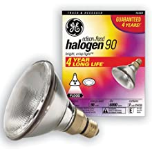 GE 16358 90-Watt PAR38 Edison Halogen Floodlight