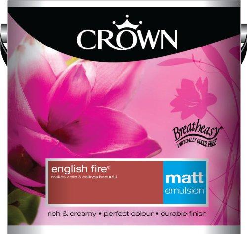 Crown Matt 2.5L Emulsion - English Fire