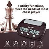 inkint Professional Digital Chess Clock Count Up Down Chess Timer with Alarm Function, Chess Game Timer with Bonus and Delay