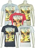 Mens 'Smith & Jones' Crew Neck T-Shirt With Large Photo Style Print. Style Name - Miami Break. Available in 5 Colours - Supa Neon (pink), Pebble, Skyway Blue, White Or Eclipse Blue. Sizes S, M, L, XL, XXL. *RRP£25.00!*
