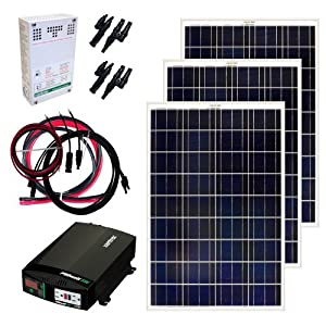 Grape Solar GS-300-KIT 300-Watt Off-Grid Solar Panel Kit from Grape Solar