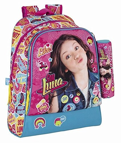 Soy Luna Day Pack Adaptable a Carro, Color Azul y Rosa