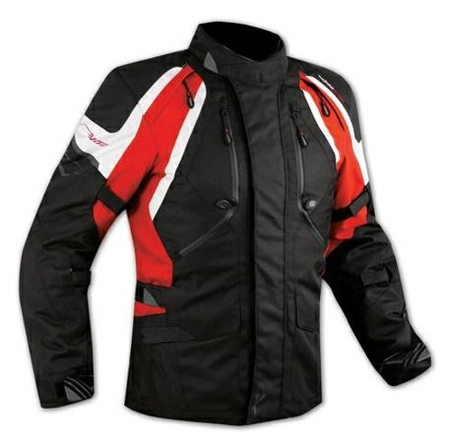 Enduro Giacca Moto Turismo Touring Cordura Impermeabile 4 stagioni Rosso L