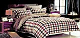 Tima Cotton 279 cm X 279 cm Double Bedsheet with 2 Pillow Covers- King Size